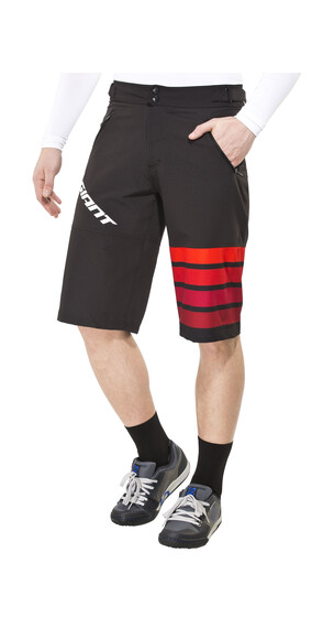 Giant Transfer fietsbroek kort Heren rood/zwart